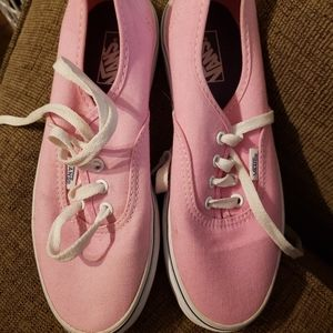 Youth 3.5 pink vans